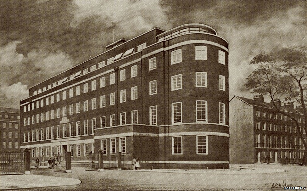 The SOAS building in Russell Square, 1943