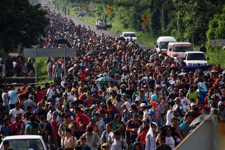 Una caravana migrante