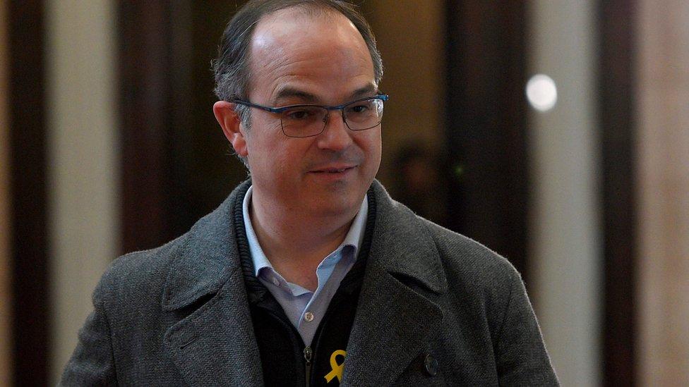 former Catalan government spokesman Jordi Turull