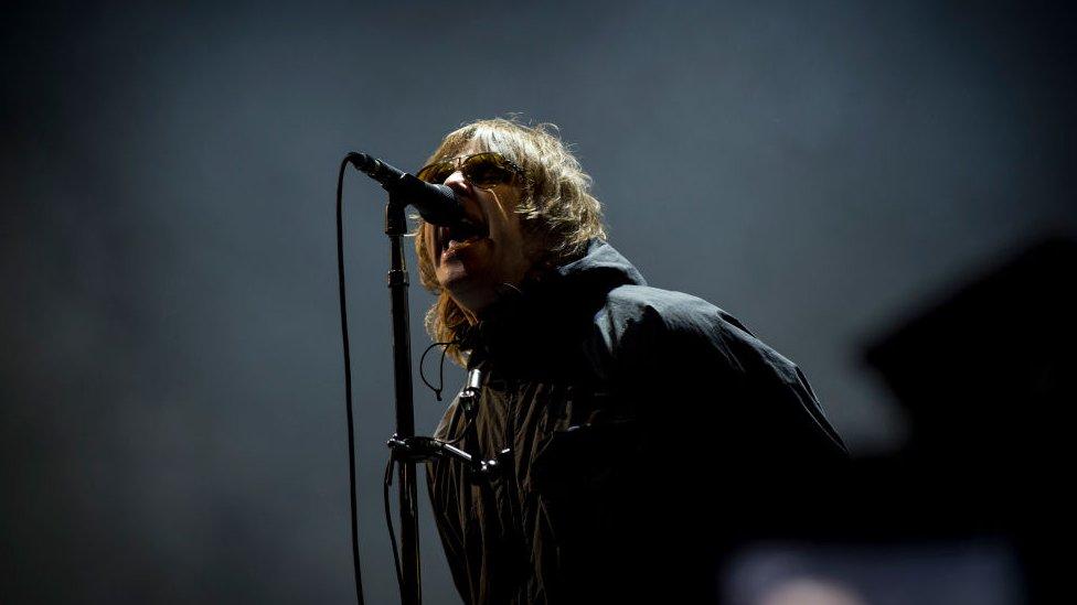 Liam Gallagher durante su presentación en el Festival de Isla de Wight, Inglaterra.
