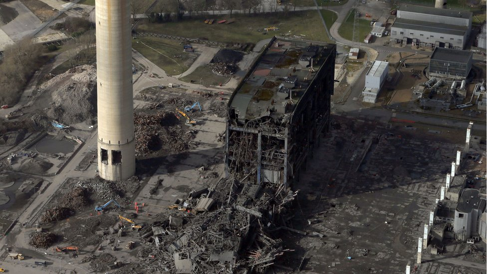 Didcot A Power Station site following the collapse