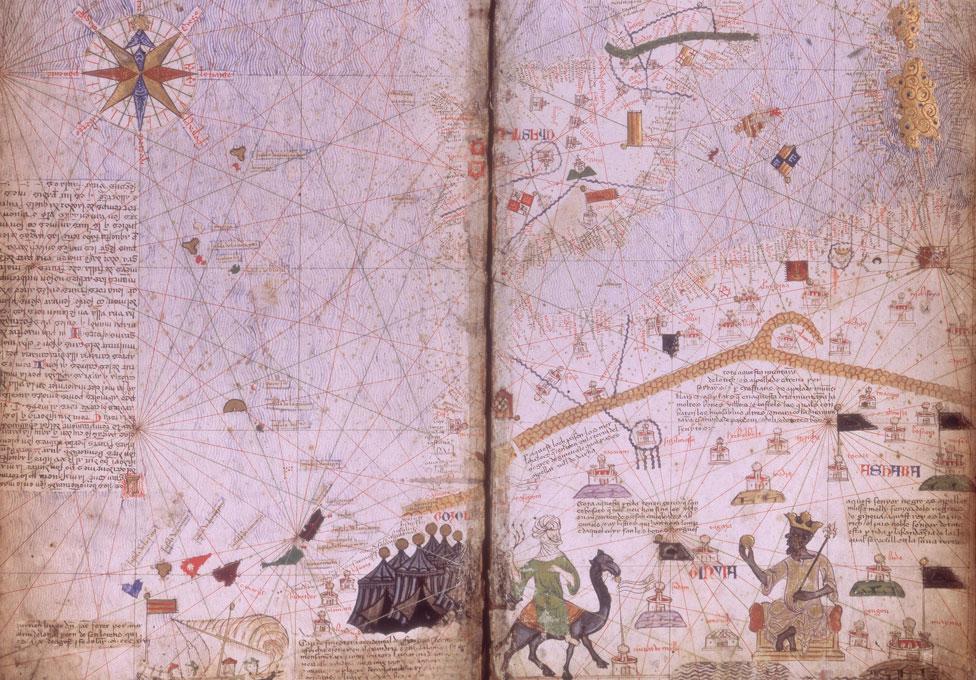 Putovanje u Meku pomoglo je da se Mali i Mansa Musa ucrtaju na mapu - fotokopija Katalanskog atlasa iz 1375. godine