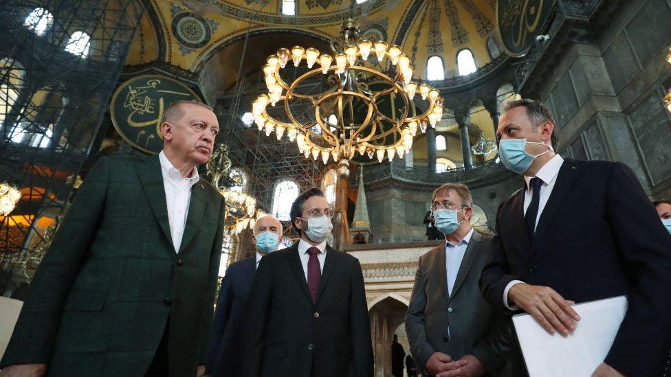 Erdoğan Ayasofyada