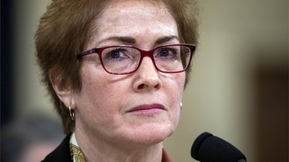 Former US ambassador to Ukraine, Marie Yovanovitch testifies during the impeachment inquiry into US President Trump, in Washington, DC, 15 November 2019