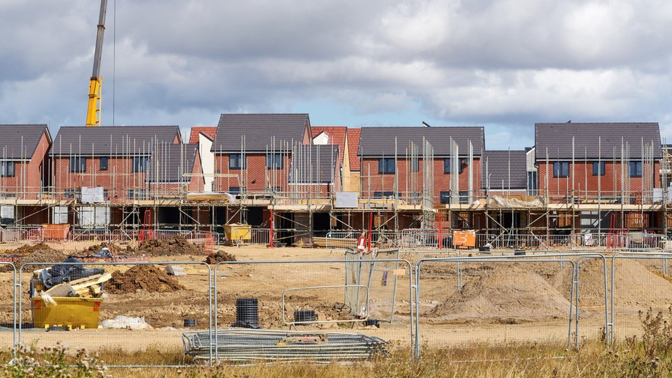 Homes being built