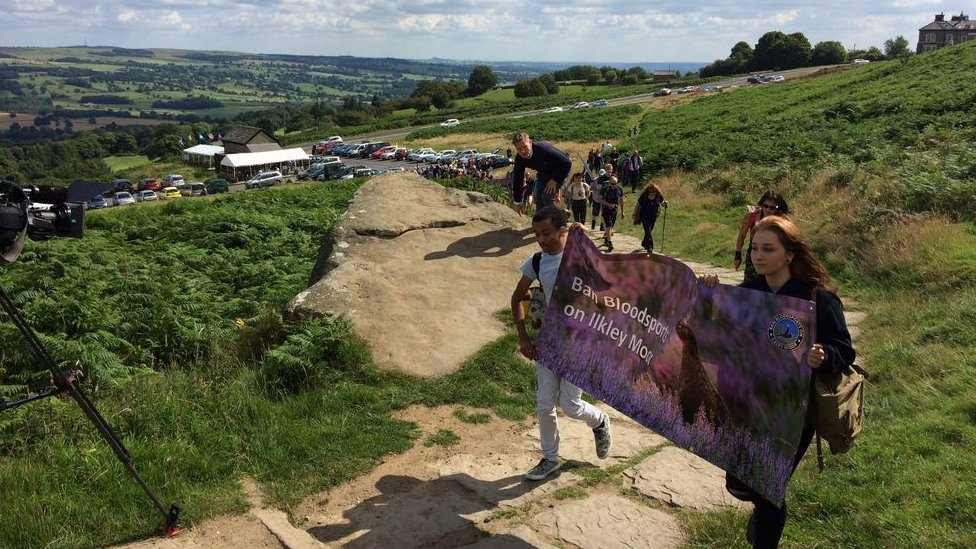 Ilkley Moor bloodsports protest