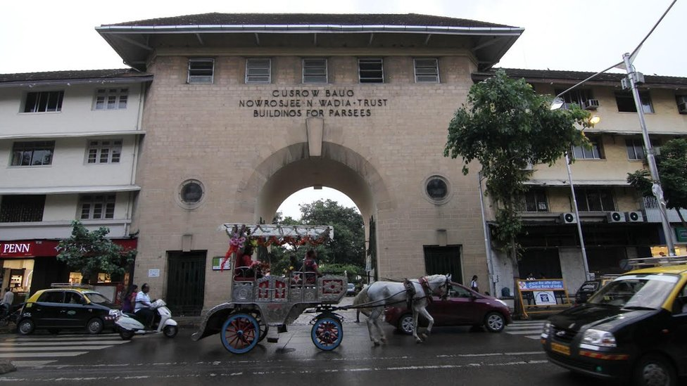 The Cusrow Baug parsi colony is seen in Mumbai , India on 20th September 2015.