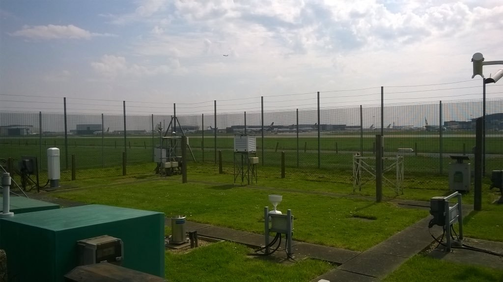 The weather station at Heathrow airport
