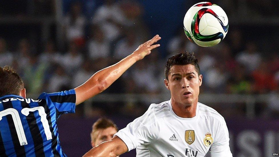 Ronaldo in action against Inter Milan - file pic
