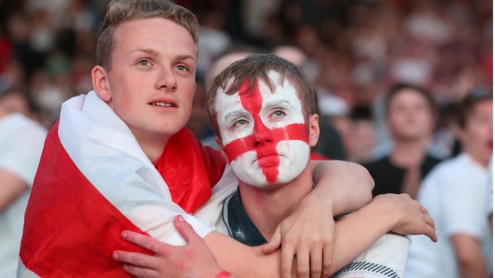 Tearful supporters in Manchester
