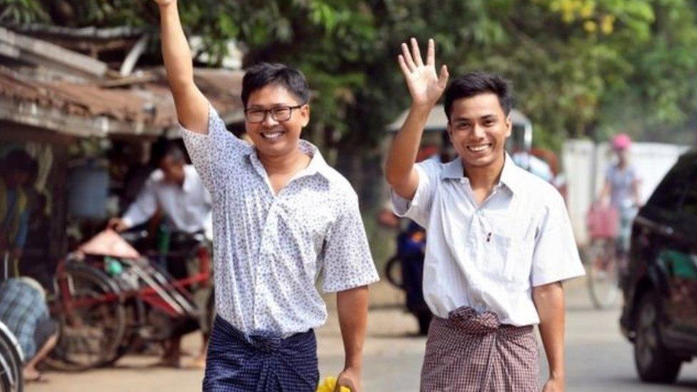 म्यांमार सरकार ने रॉयटर्स के दो पत्रकारों को रिहा किया