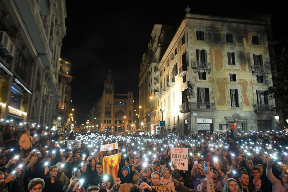 protesti u barseloni