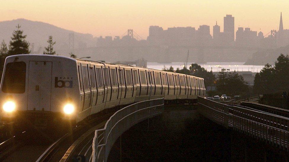 Bart train in San Francisco
