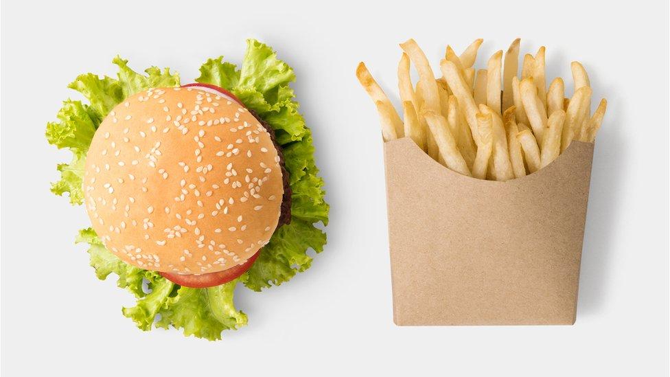 burger i pomfrit