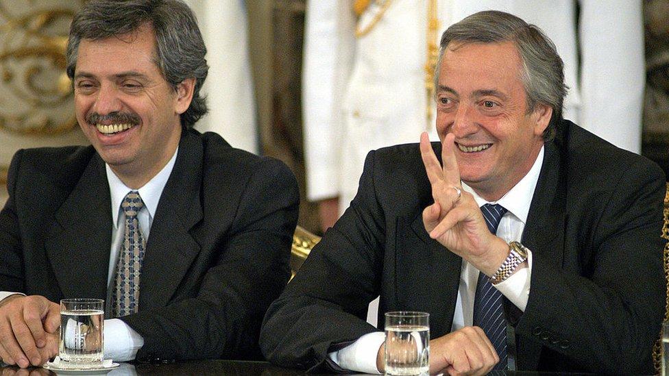 Alberto Fernández y Néstor Kirchner.