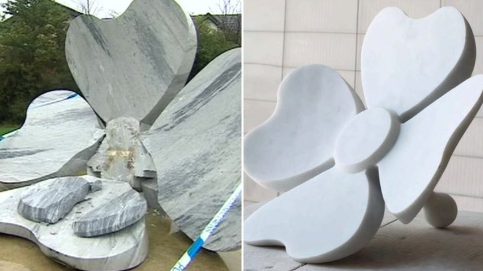 'No payout' for collapsed Wootton Bassett poppy sculpture
