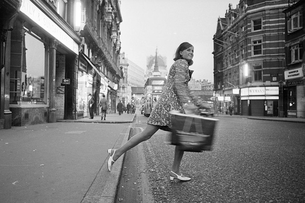 A fashion reporter for a daily newspaper on Fleet St in the 1960s