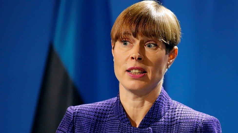 Estonska predsednica Kersti Kaljulaid