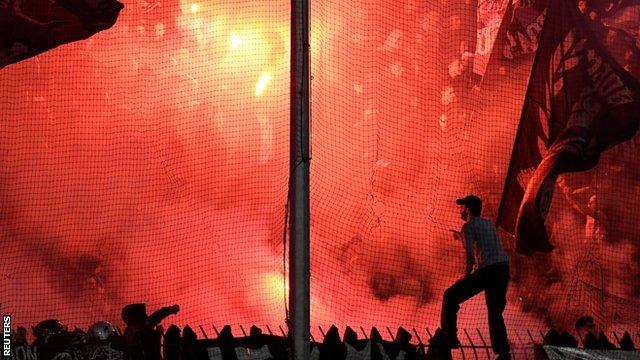 Navijala PAOK-a na utakmici protiv Olimpijakosa
