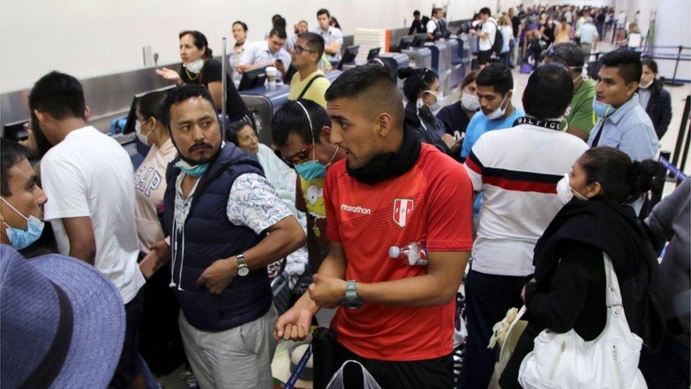 Peruanos en Cancún