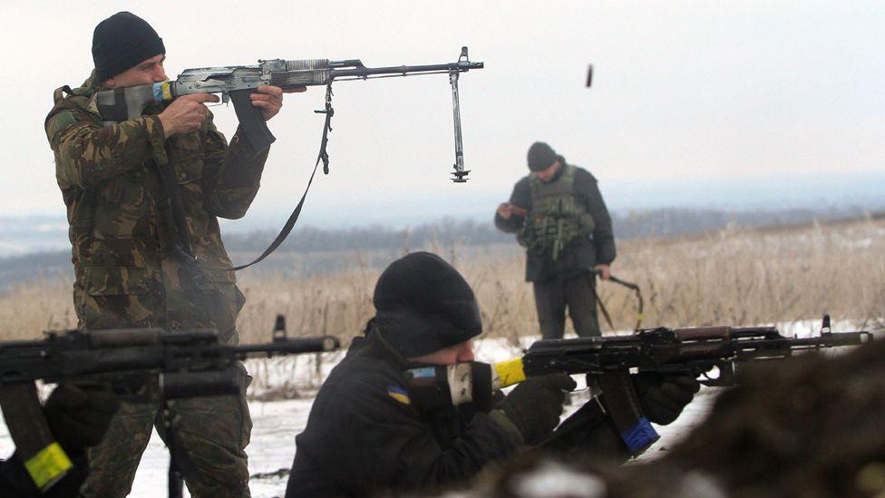 烏克蘭軍隊在頓涅茨克