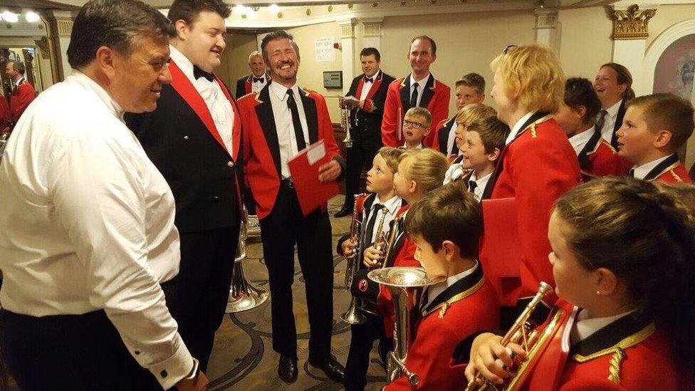 Foxhill Band meet Black Dyke Mills band