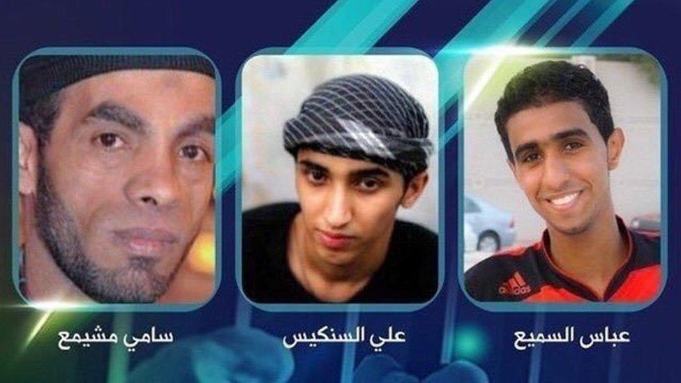 Sami Mushaima, Ali al-Singace and Abbas al-Samea