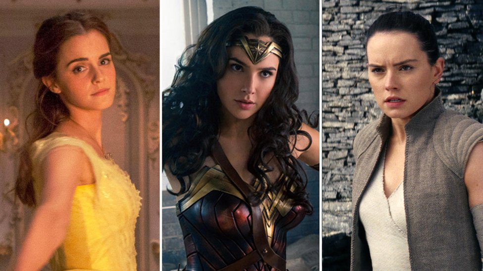 Beauty and the Beast, Wonder Woman, Star Wars - The Last Jedi