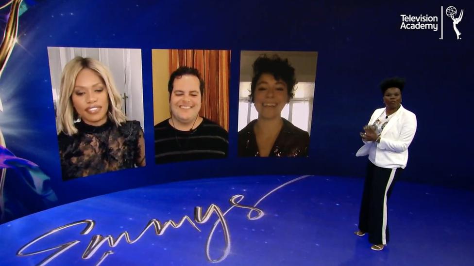 Una captura de pantalla de la ceremonia de anuncio de los nominados a los premios Emmy 2020