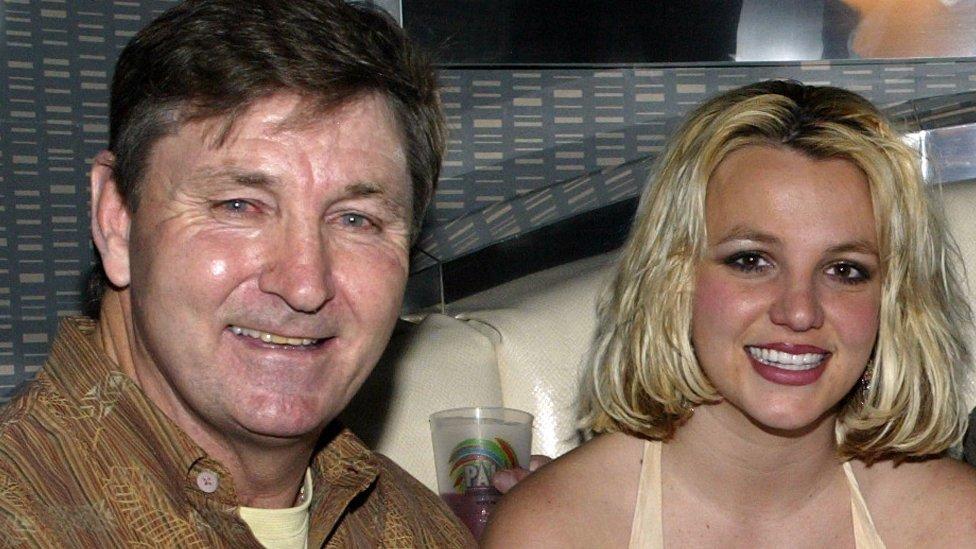 بريتني ووالدها عام 2006