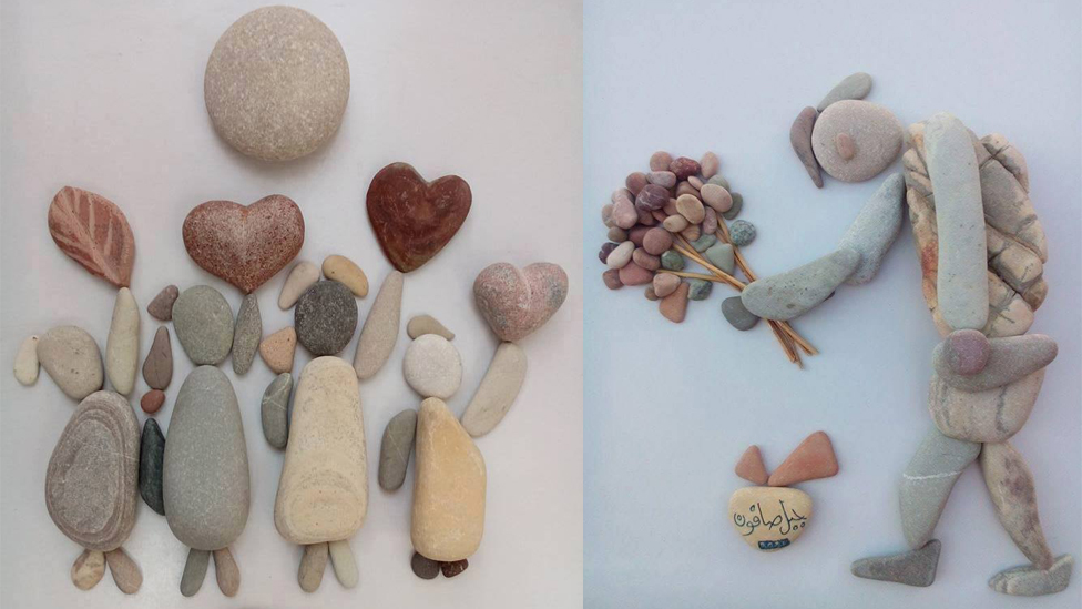Two stone arts