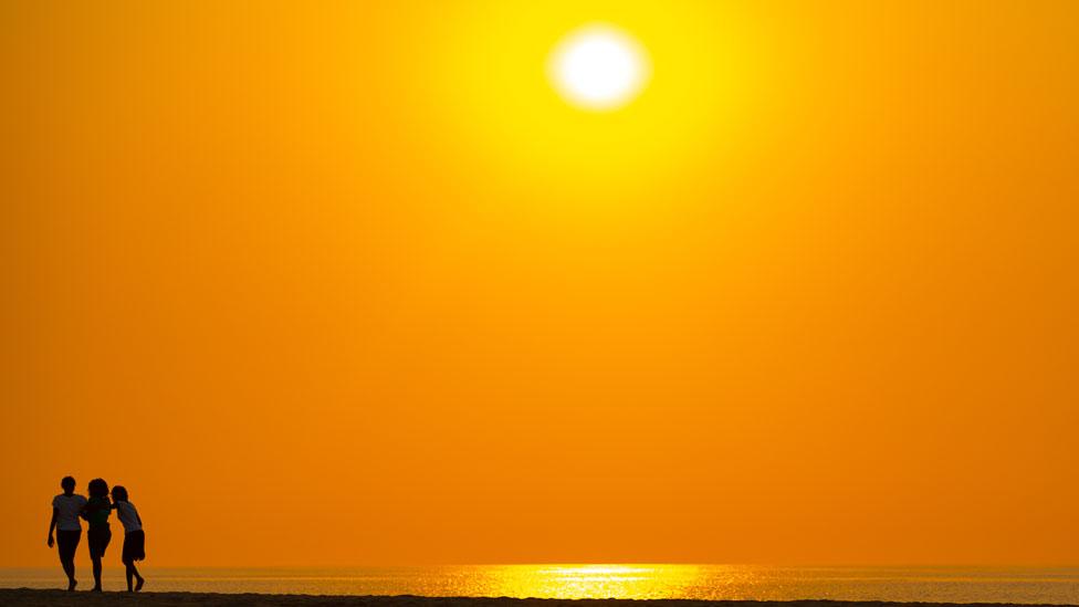 Una puesta de Sol en Angola