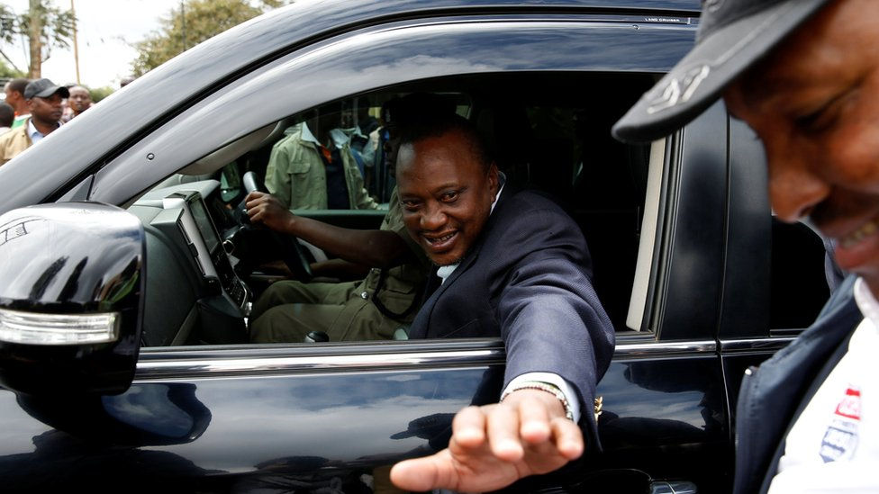 Kenyatta after voting