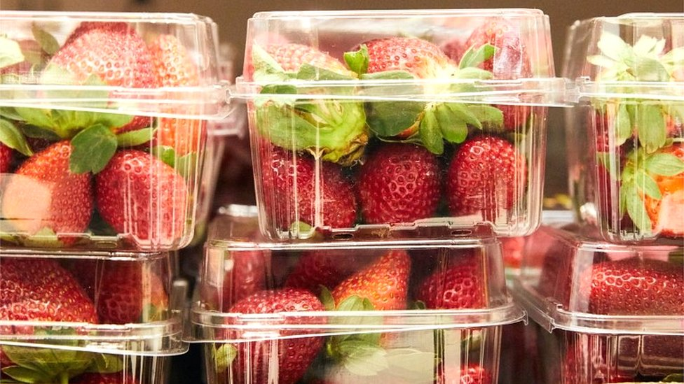 Paquetes de fresas.