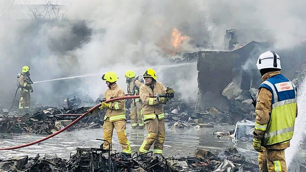Grays scrapyard fire creates huge plume of smoke
