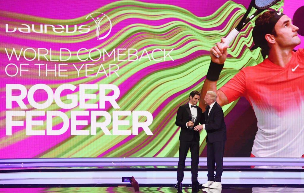 Roger Federer junto a Boris Becker.