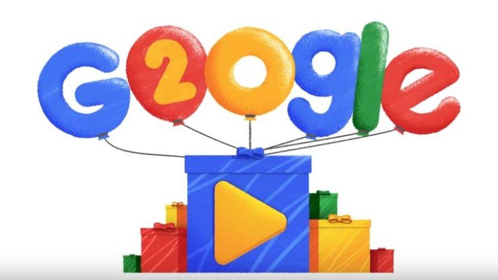 Doogle de Google en su cumpleaños.
