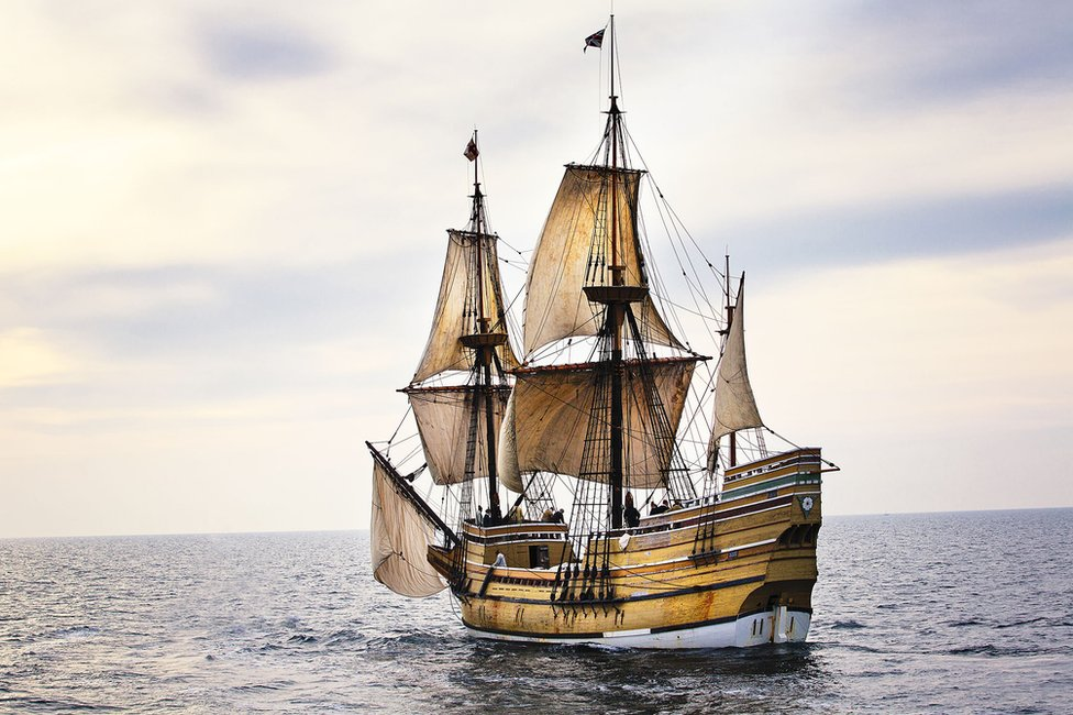 The original Mayflower, which set sail from Plymouth on 16 September, 1620, before finding safe harbour in what the settlers would come to know as New Plymouth on the other side of the Atlantic Ocean
