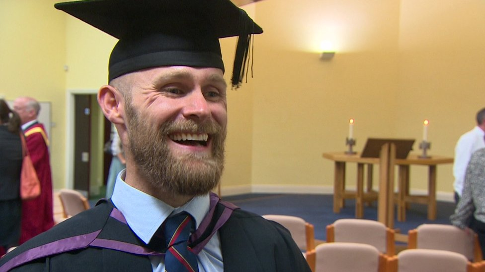 Triple amputee Mark Ormrod receives honorary degree