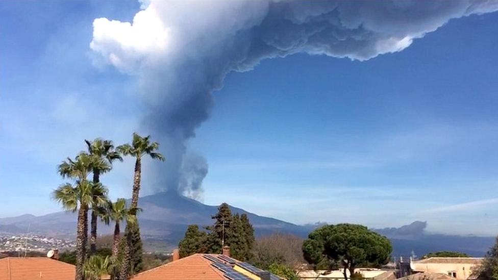 Vista del Etna desde Catania