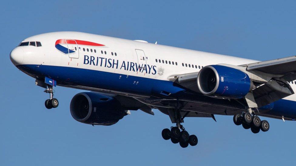 BA avión