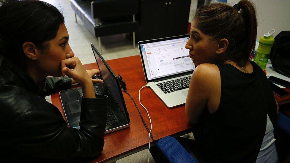 Programadoras palestinas