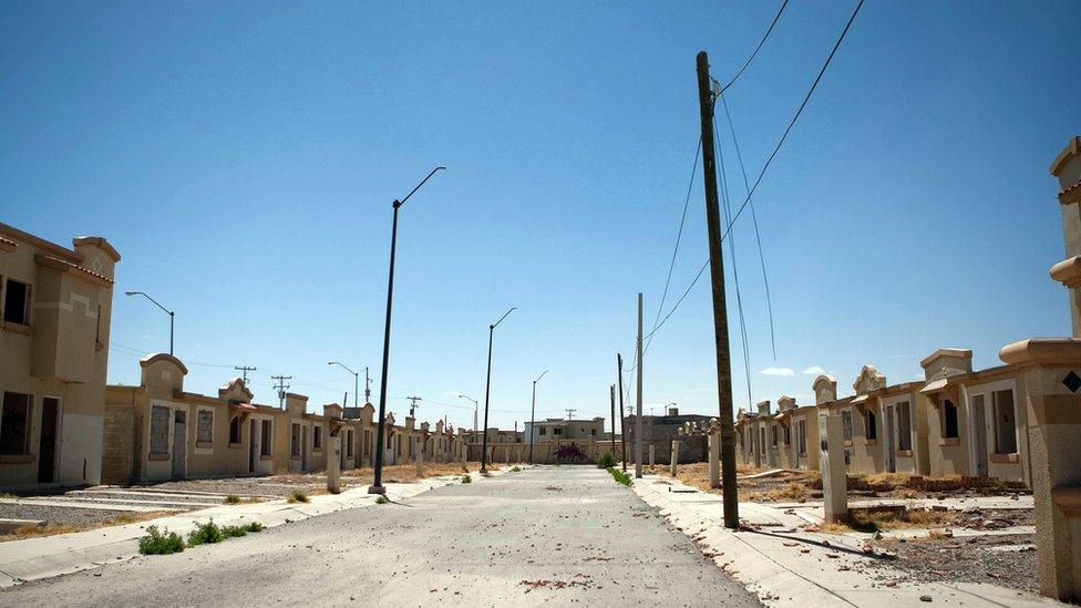 Casas abandonadas en Ciudad Juárez
