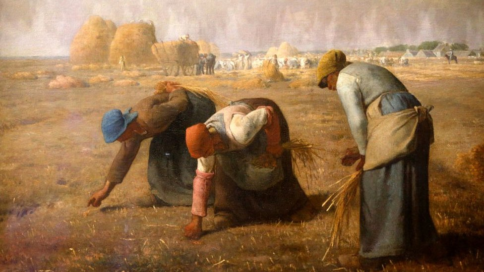 Musée d'Orsay. Jean-Francois Millet, The Gleaners. Oil on canvas, 1857.