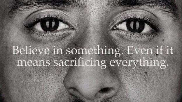 Nike advert featuring Colin Kaepernick