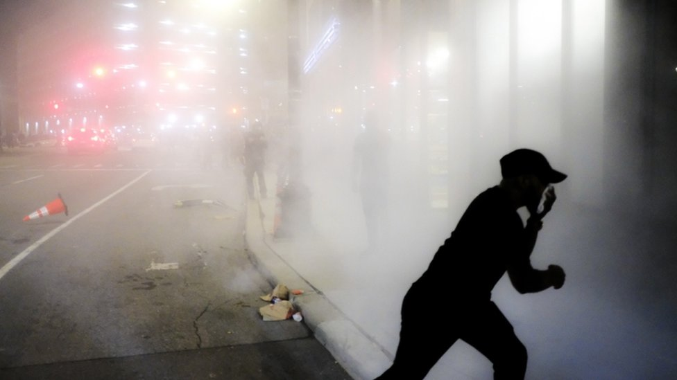 Tear gas fired in Detroit