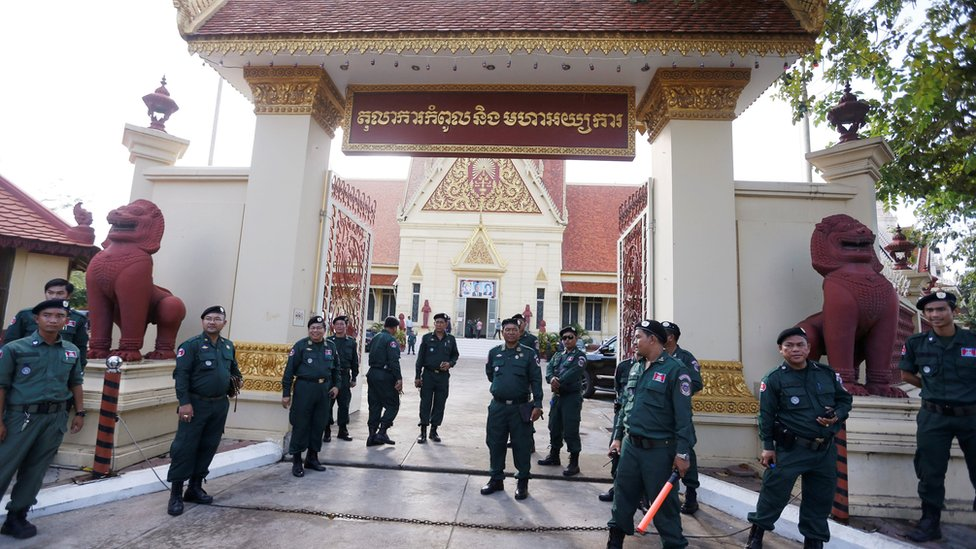Police guarding the Supreme Court