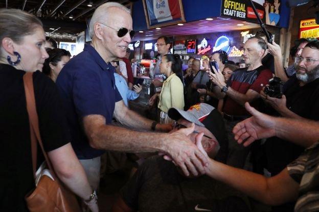 جو بايدن مرشح الحزب الديمقراطي في انتخابات الرئاسة الأمريكية