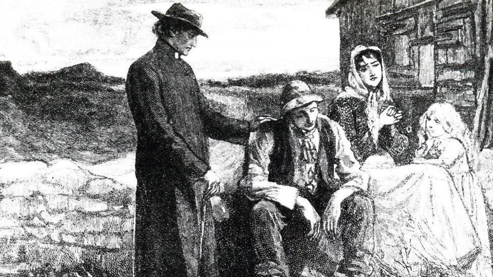El 85% de la población nativa irlandesa era católica y sobrevivía con muy poco.