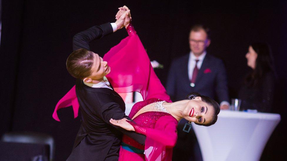 Madis Abel and Aleksandra Galkina